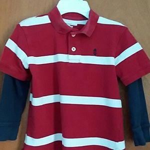 Boys GAP Long Sleeve Polo Shirt Size S